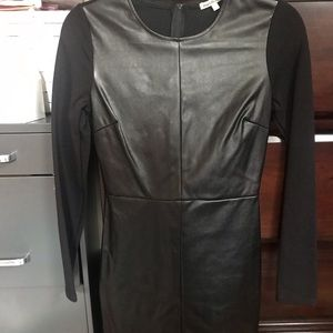 Dress middle leather